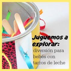 Juego para explorar: diversión para bebés con tarros de leche - Blog de BabyCenter