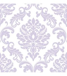 WallPops®NuWallpaper™ Purple Ariel Damask Peel And Stick Wallpaper