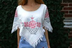 Upcycled Vintage HIPPIE BOHO Capelet Top With by RubyChicOriginals, $48.00