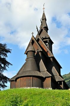 Hopperstad Stave Church (1130) in Vik, Sogn, Norway