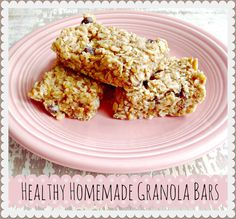 Healthy Baked Granola Bars or Raw Granola Balls #healthy #granola #recipe #kids #snack #peanutbutter