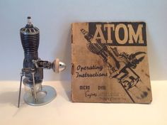 vintage Super Atom .098 spark ignition model airplane engine