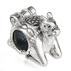 1PCS/lot European Style Antique 925 Sterling Silver Camel Charm Beads Animal Jewelry