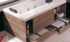 Bathroom Designs Great Bathtubs With Drawers Innovative Bathroom Furniture Ideas Handy Modern Bathtub with Style Modern Small Bathrooms, Modern Bathtub, Modern Bathroom Design, Bathroom Interior Design, Bathroom Small, Modern Design, Bathroom Ideas, Bad Inspiration, Bathroom Inspiration