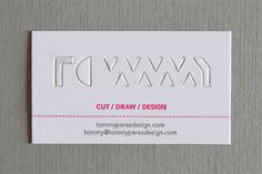 cut out name cards