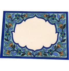 "Carmel Gifts - Hand Painted Ceramic Door Sign - Armenian Rosenfeld Collection - 8""x6"", $54.65 (http://www.carmelgiftshop.com/israel-culture/armenian-ceramics/hand-painted-ceramic-door-sign-armenian-rosenfeld-collection-8x6/)"