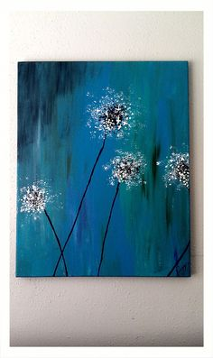 Dandelion Painting. acrylic on canvas