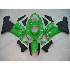 Kawasaki NINJA ZX6R 2005-2006 Injection ABS Fairing - Others - Green/Black   $639.00