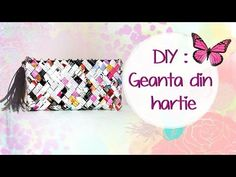DIY: Geanta din hartie ( Tutorial in limba romana) HD - YouTube Candy Wrapper Purse, Candy Wrappers, Candy Bags, Origami And Quilling, Quilling Art, Paper Beads, Paper Art, Projects To Try, Jewelry Making