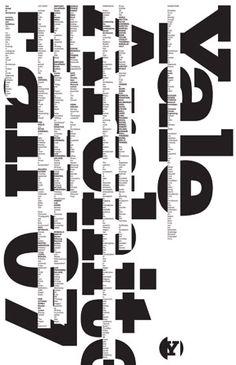 graphic design, schools, michael beirut, poster, architecture, type, michael bierut, design layouts, typographi
