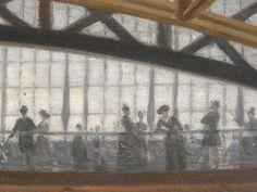 BEROUD Louis,1889 - Le Dôme Central de la Galerie des Machines lors de l'Exposition de 1889 - Detail 06 - Visitors ender Le Dôme Central de la Galerie des Machines, during 1889' Exhibition in Paris -