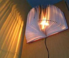 Upcycled Book Lamp tutorial