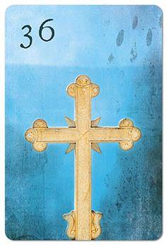 Mondnacht Lenormand Karte 36: Kreuz