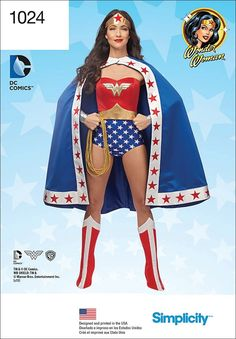 Simplicity Creative Patterns US1024R5 Misses Wonder Woman Costume, Size R5 (14-16-18-20-22) * Find out more about the great item at the image link.