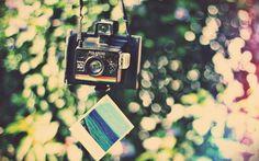 Humeur, caméra, photo, photo, polaroid, photo, split, fissure, lumières, milieux Wallpaper