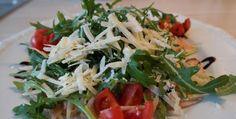 Arugula Salad With Walnuts. Good For Diet.