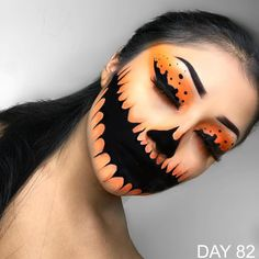 Halloween – Make-up Schminke und Co. Halloween – Make-up Schminke und Co. Creepy Halloween Makeup, Halloween Makeup Looks, Scary Makeup, Makeup Art, Halloween Pumpkin Makeup, Halloween Make Up Scary, Sfx Makeup, Scary Halloween Costumes, Women Halloween
