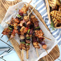 szaszłyki, szaszłyki mięsne, szaszłyki z boczkiem, szaszłyki z kurczakiem, pomysł na grill, grill, grillowanie, śliwki suszone, zielona papryka, warzywa, grill time, grill party, shishkebab, shashlikas Kung Pao Chicken, Grilling, Tacos, Dairy, Beef, Cheese, Ethnic Recipes, Food, Gastronomia