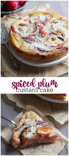 Spiced Plum Custard Cake is part of Custard cake - Gourmet Recipes, Baking Recipes, Sweet Recipes, Cake Recipes, Dessert Recipes, Plum Recipes Healthy, Plum Recipes Dinner, Custard Cake, Sweet Tarts