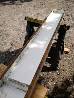 DIY: How to Create Poured Concrete Vanity Tops and Shower Curbs Diy Concrete Vanity Top, Concrete Sink, Concrete Color, Concrete Bathroom, Poured Concrete, Building A Wood Shed, Shower Curb, Concrete Projects, Diy Projects