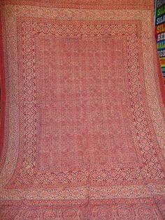 ajrakh ralli quilts/ block printed ajrakh/ by jaisalmerhandloom, $119.00