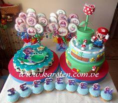 Torta, Gelatina, Galletas y Cupcake´s de Mario Bros