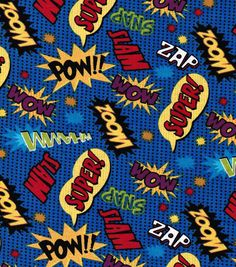 Novelty Cotton Fabric-Comic Words | Comic Fabric |
