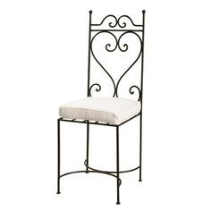 Wrought iron chair in brown - Toscane … Wrought Iron Chairs, Metal Chairs, Door Gate Design, Iron Furniture, Iron Steel, Metal Fabrication, Diy Pallet Projects, Affordable Furniture, Decoration