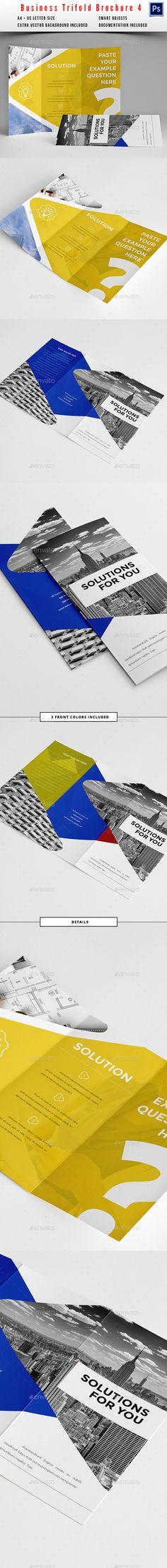 Clean Trifold Business Brochure 4 Business BrochureBrochure