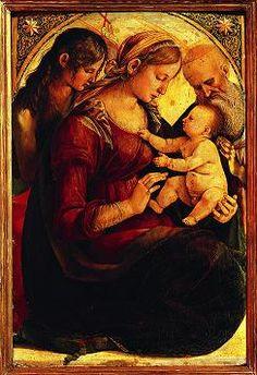 Luca Signorelli - Madonna con bambino, santi Giovanni Battista e Geronimo? - 1486-1488 - Palazzo Pallavicini-Rospigliosi, Roma