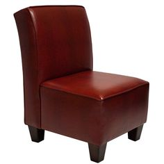 Miller Welted Red Croc Chair