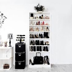 Pin for Later: 8 Ways to Make Your Shoe Closet Look Like the Ones You See on Your 'Gram Turn a Bookcase Into a Mini Shoe Shelf
