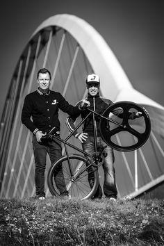 The men behind J bike: Lammert Moerman and Werner Peters.