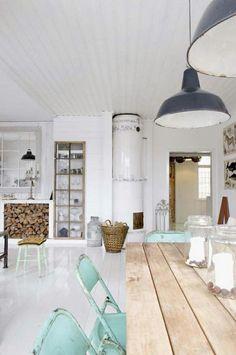 Wit voor rust, hout voor warmte; aangevuld met stoere accenten en de kleur mint/blauw mag niet ontbreken. Zo mag mijn thuis zijn. #Pintratuin