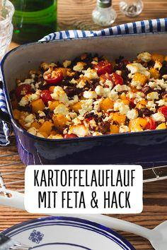 Potato bake with feta and minced meat Potato bake Recipe bell pepper Feta R . - Potato casserole with feta and minced meat Potato casserole recipe Paprika feta recipe with ground - Clean Eating Recipes, Lunch Recipes, Meat Recipes, Dinner Recipes, Healthy Recipes, Potatoe Casserole Recipes, Potato Recipes, Benefits Of Potatoes, Beef And Potatoes