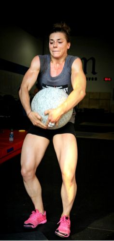 Julie Foucher......this was me the other day, but I guarantee her stone weighed more!