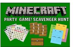Minecraft Party Game - Printable Scavenger Hunt!