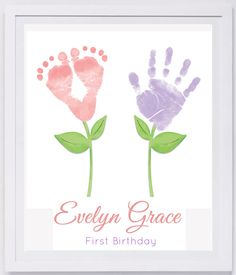 Baby Footprint Art, Forever Prints hand and footprint keepsake for kids or baby. Mother's Day, New Mom, Nursery Art Baby In loving memory. by MyForeverPrints on Etsy https://www.etsy.com/listing/199082131/baby-footprint-art-forever-prints-hand More