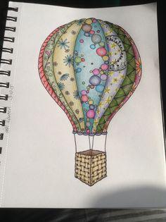 Inspired by my Zen Challenge board, to design my own hot air balloon... Wahooooooooo... I kinda think it works!