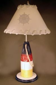 """Buoy Electric Lamp 28"""" from Handcrafted Nautical Decor - In stock and ready to ship"""