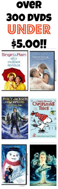 Over 300 DVDs $5 or Less!  (Great for Gifts!)