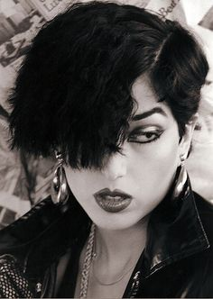Alice Bag, ex-vocalist for The Bags, bassist for Castration Squad, author. 80s Goth, Punk Goth, Rocker Boots, Alice Bag, Hippie Boots, Boho Boots, Grunge Makeup, 80s Makeup, Goth Makeup
