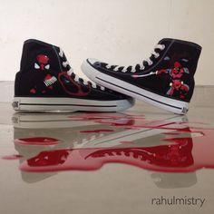 Marvel Deadpool Custom-made converse shoes