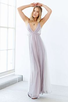 Kimchi Blue Stormy Deluxe Maxi Dress from @urbanoutfitters