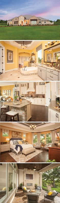 The Maidstone by David Weekley Homes in Reserve at Vintage Oaks is a 4 or 5 bedroom floorplan that features a tray ceilings, a sunroom, hardwood floors and covered porch. Custom home upgrades include an outdoor living space, a 4 car garage or a 5th bedroom.