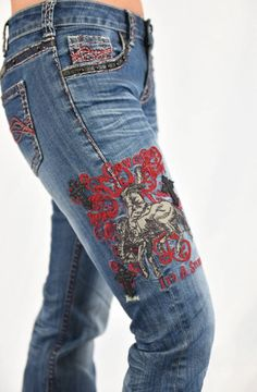 Cowgirl Tuff Jeans - Unbelievable Spirit Red