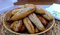 Greek Cookies, Greek Sweets, Greek Recipes, Different Recipes, Pretzel Bites, Macarons, Sausage, Biscuits, Favorite Recipes