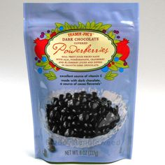 TRADER JOE'S Dark Chocolate covered dried fruit Powerberries Acai Pomegranate