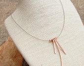 Minimalist. Copper. Sticks. Necklace.