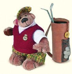 """Teddy """"Antonio The Golfer """", 11 см, Limited Edition (2006). Designer - Traudel Mischner-Hermann"""